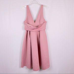 ASOS blush pink scuba sleeveless dress